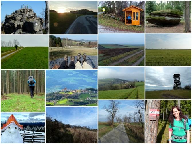 Zwei Tage hier, drei Tage da, einer dort. Ganz durcheinander habe ich heuer über die Hälfte des Ostösterreichischen Grenzlandwegs (vulgo 07er) erwandert!
