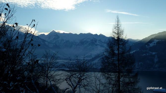 Die Sonne versinkt hinter dem Kitzsteinhorn