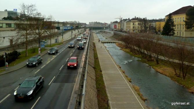 Wiener Westausfahrt & Wienfluss