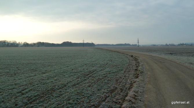 Im frostigen Morgengrau: Ich verlasse Mattighofen