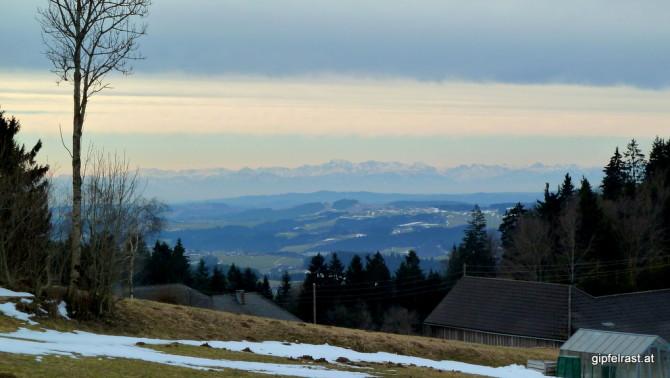 Auch die Alpen zeigen sich heute wieder