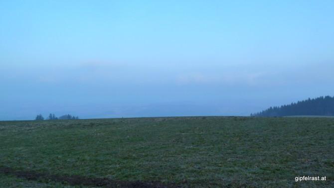 Die Nebel lösen sich nur langsam auf