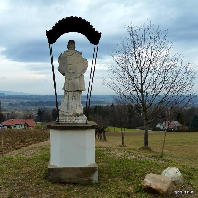 Der Hl. Nepomuk weist uns den Weg nach Schwanberg