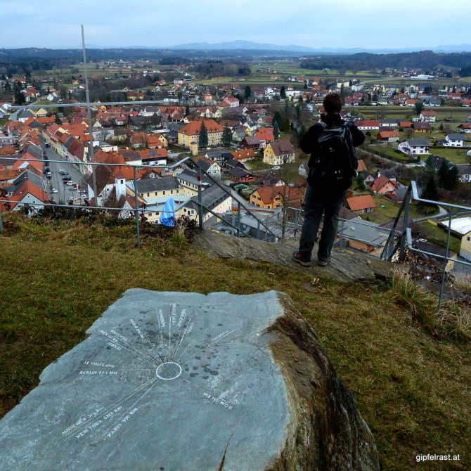 Blick auf Schwanberg und in die weite Welt