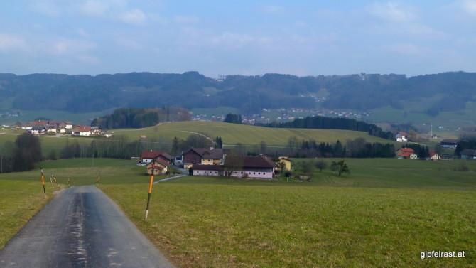 Der erste Blick nach Nußdorf am Haunsberg