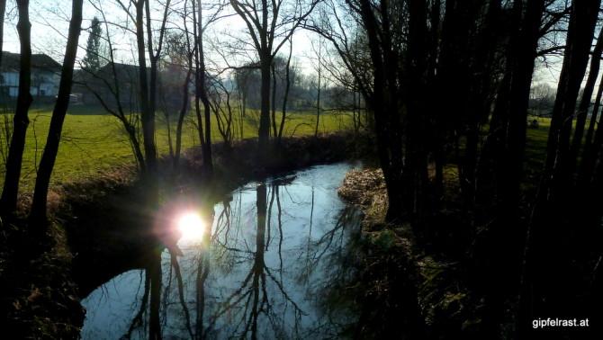 Der Fluss Pram ist heute und morgen mein Begleiter