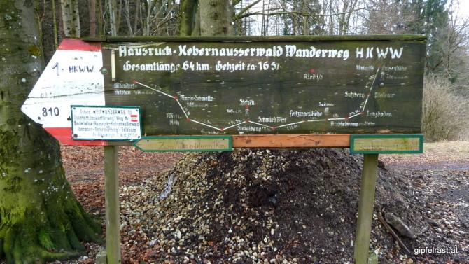 Heute und morgen mein Begleiter: der Hausruck-Kobernaußerwald Wanderweg