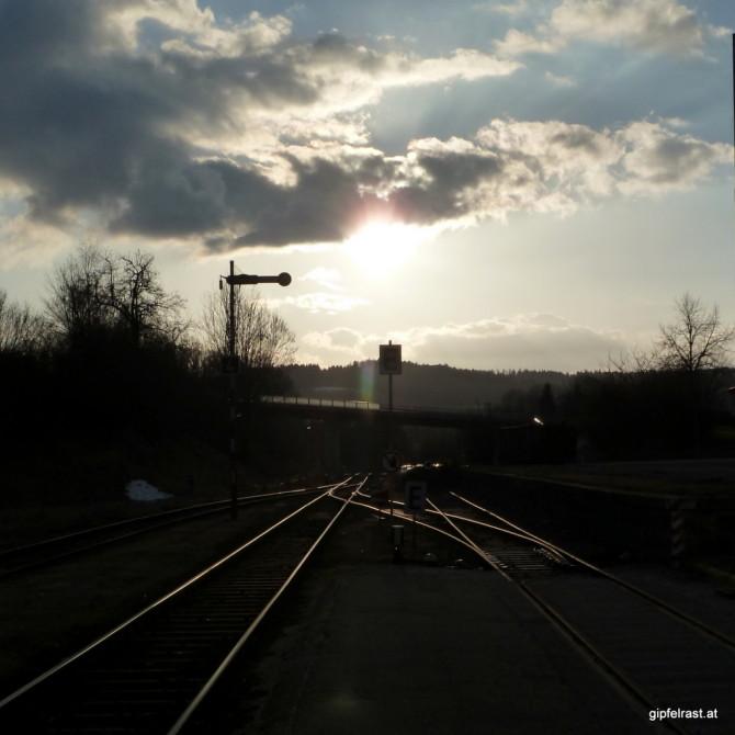 Am Bahnhof Hausruck
