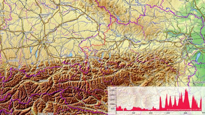 Der Rupertiweg (Weitwanderweg 10) durchquert Österreich vom Mühlviertel bis zu den Karnischen Alpen