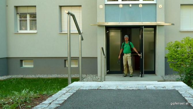 Startpunkt einer jeden Wallfahrt: die eigene Haustür!