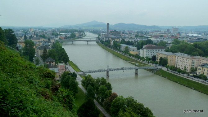 Blick vom Mönchsberg