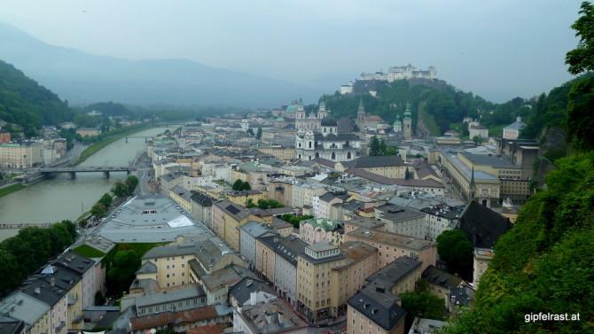 Hoch über der Altstadt von Salzburg
