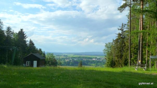 Auf der Skipiste von Dobersberg