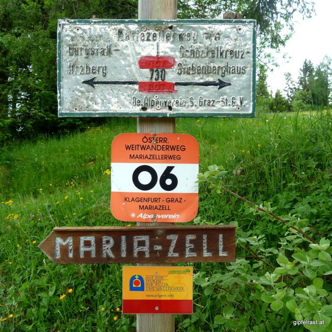 Ob das hier wohl der Weg nach Mariazell ist?