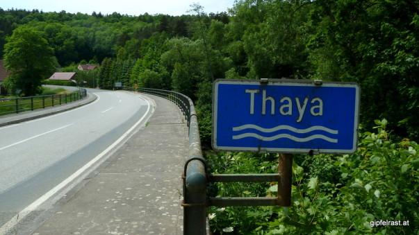 Unzählige Male haben wir die Thaya im Laufe dieser drei Tage überquert...
