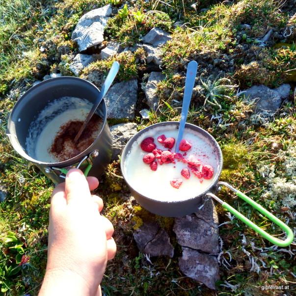 Frühstück: Grießpapperl in zweierlei Façon