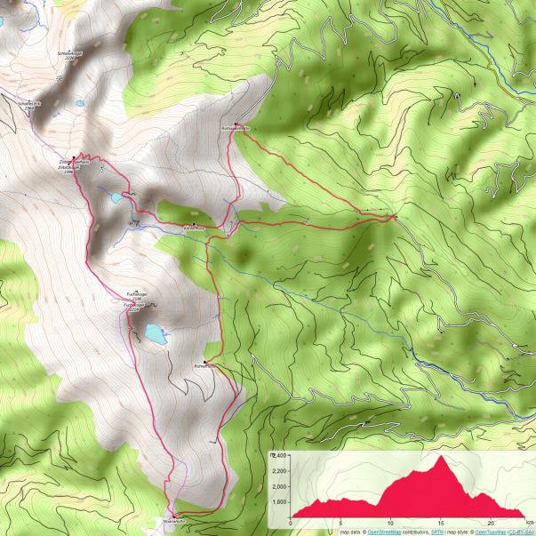 Karte unserer Zirbitzkogelrunde