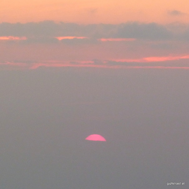 Die erste Morgensonne