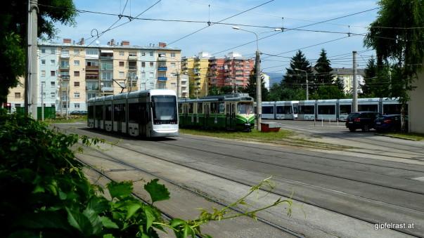 Der Fuhrpark der Grazer Straßenbahn in der Remise Alte Poststraße