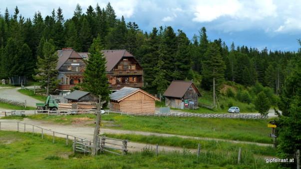 Start und Ziel: Die Waldheimhütte