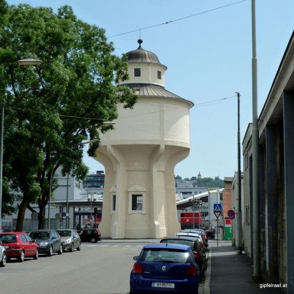 Der Wasserturm beim Hauptbahnhof