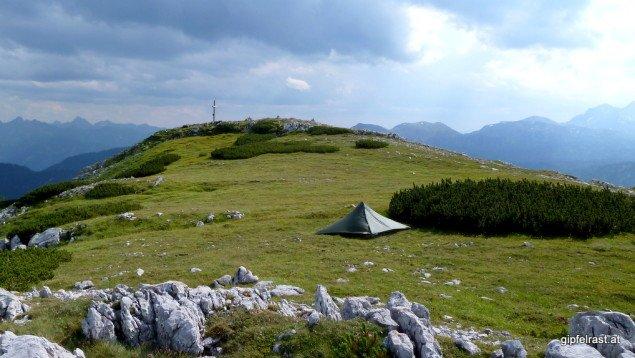 Meine Behausung am Gipfelplateau