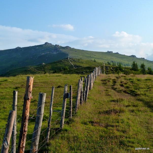 Dem Zaun entlang zur Forstalpe
