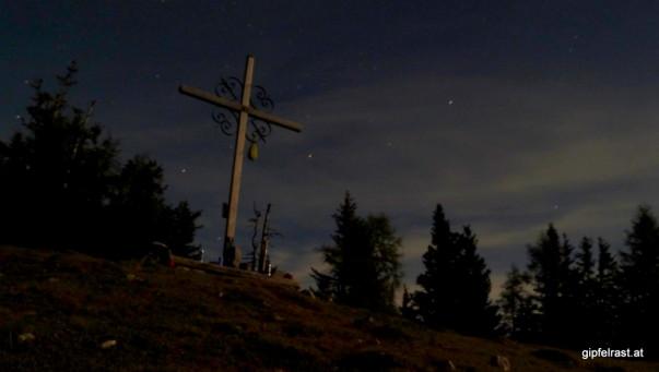 Das Gipfelkreuz des Schießlings...