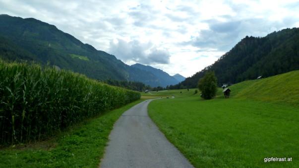Einsame Straße im Tal