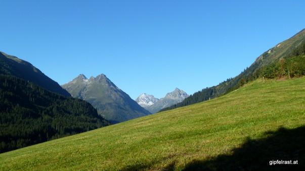 Raus aus dem Paznauntal, rauf auf die Berge!