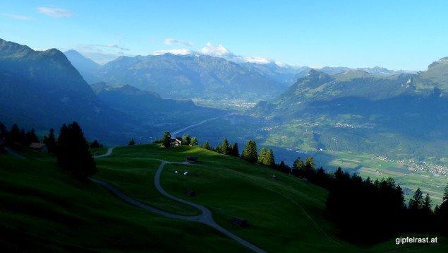 Der erste Blick aufs Rheintal