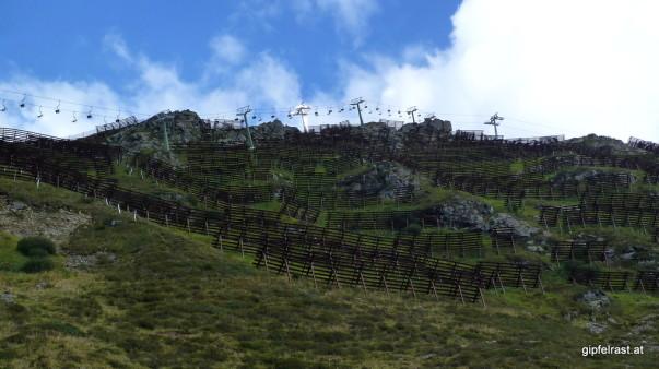 Verbauter Berg