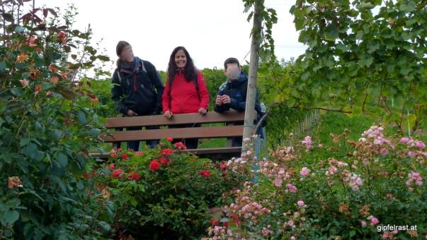 Rosengarten bei der allerletzten Einkehrmöglichkeit