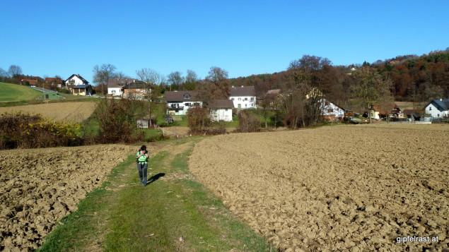 In den Äckern von Bärndorf
