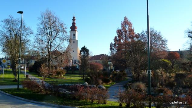 Im Erzherzog Johann Park in Fernitz beginnt der Grabenlandtrail