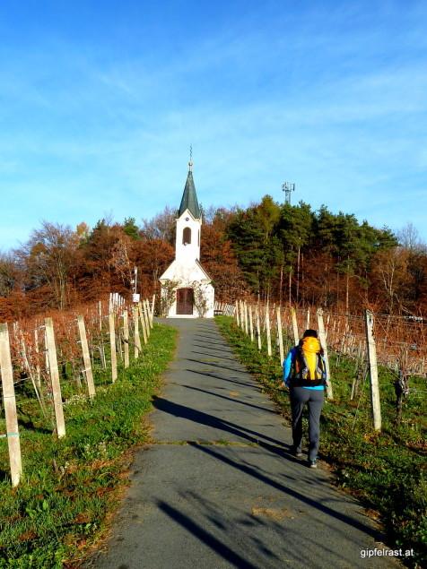 Kleiner, aber schöner Umweg zur Kapelle in den Weinbergen