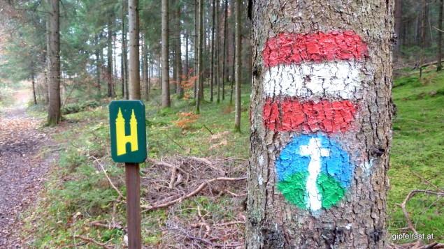 Markierungen vieler Pilgerwege