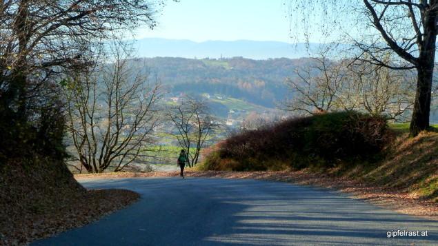 Heiligenkreuz am Waasen und Pirching am Traubenberg liegen hier bereits hinter uns
