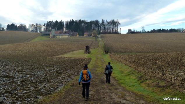Durch weite Felder nach St. Ulrich