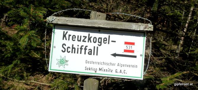 Kreuzkogel & Schiffall. Oder: Die Rückkehr nach Frohnleiten