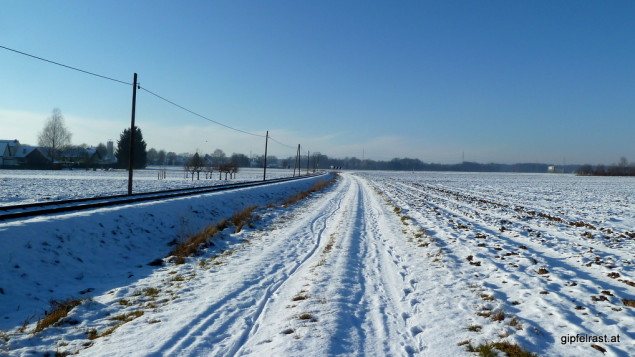 Feldweg Eisenbahn