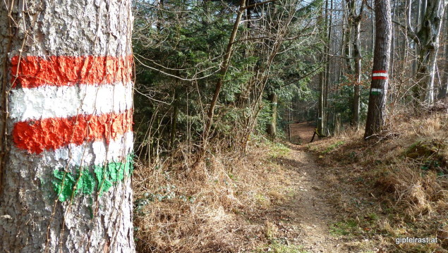 da möchte man lieber nicht anstreifen. Denn wie frisch gestrichen präsentieren sich heute die Wanderwege.