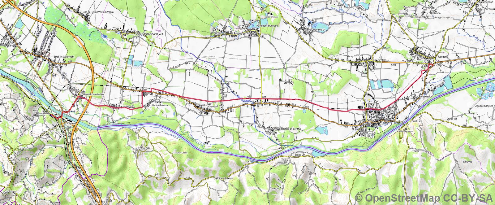 Karte Grenzland Bahnweg 11