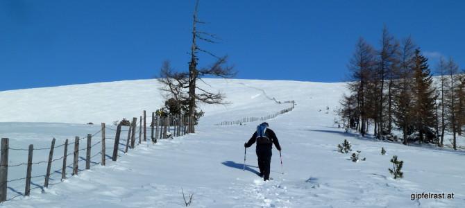 Mit Schneeschuhen auf den Kleinen Speikkofel (Nockberge)