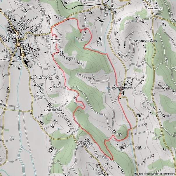 Wanderkarte Kaskögerlweg