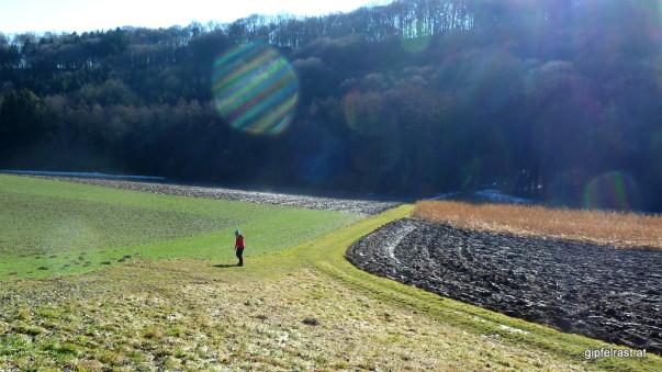 Der Kaskögerlweg nicht nur durch Wiesen und Felder...
