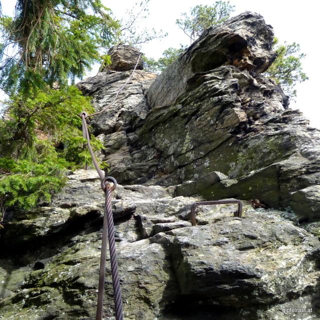Hoppla, ein Klettersteig!