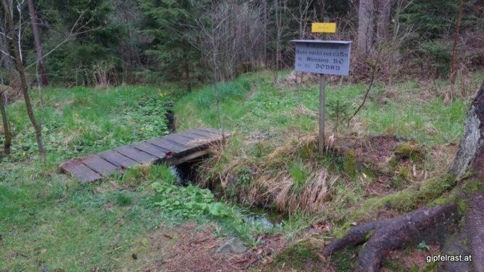 Die Quelle des Kamp an der Grenze zwischen Ober- und Niederösterreich