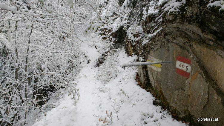 Der Weg könnte auch ohne Schnee ganz nett sein.