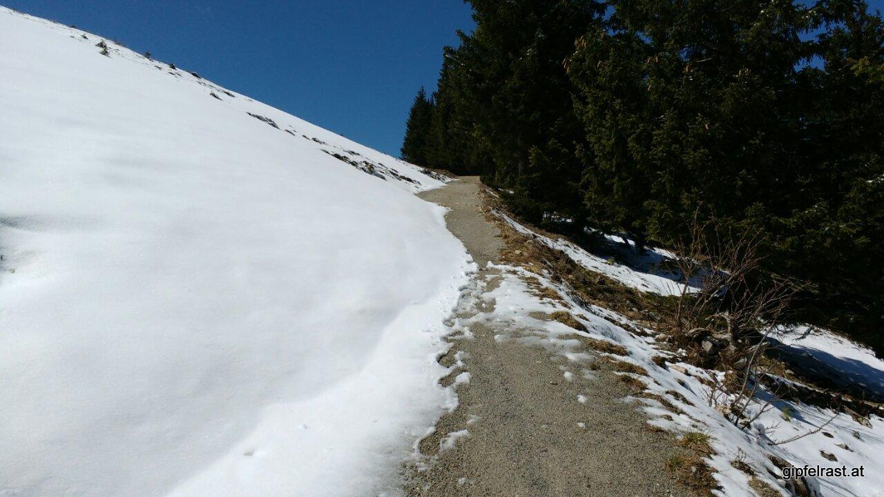 Mancherorts liegt noch richtig viel Schnee...